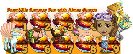 FarmVille Summer Fun with Aimee Quests