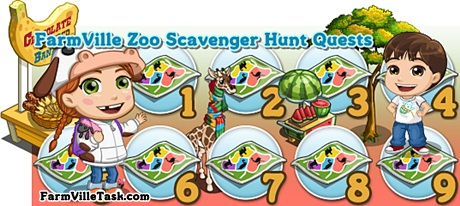 FarmVille Zoo Scavenger Hunt Quests