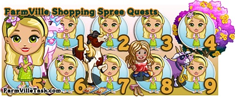 FarmVille Shopping Spree Quests