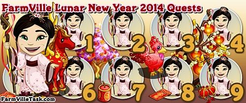 FarmVille Lunar New Year 2014 Quests