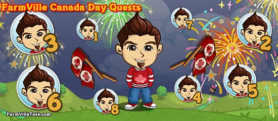 FarmVille Canada Day Quests