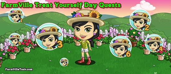 FarmVille Treat Yourself Day Quests
