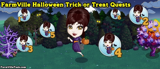 FarmVille Halloween Trick or Treat Quests