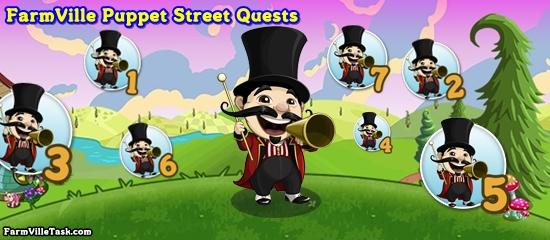 FarmVille Puppet Street Quests