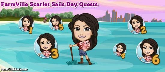 FarmVille Scarlet Sails Day Quests
