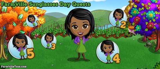 FarmVille Sunglasses Day Quests