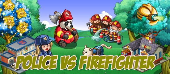 FarmVille Police Vs Firefighter