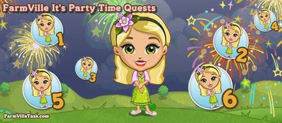 FarmVille It's Party Time Quests